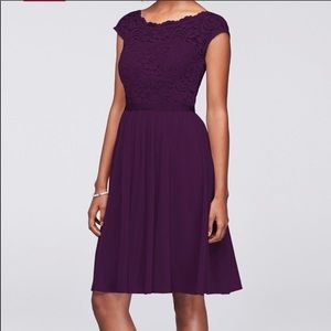 David's Bridal Dress in Plum